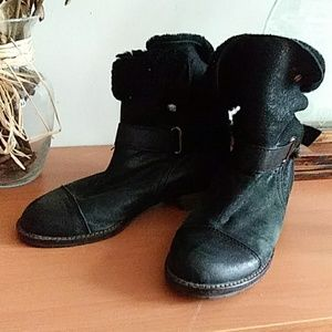 Matt Benson Black Shearling Boots 6.5